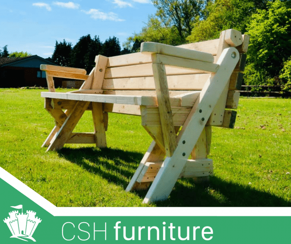 Foldable picnic table bench
