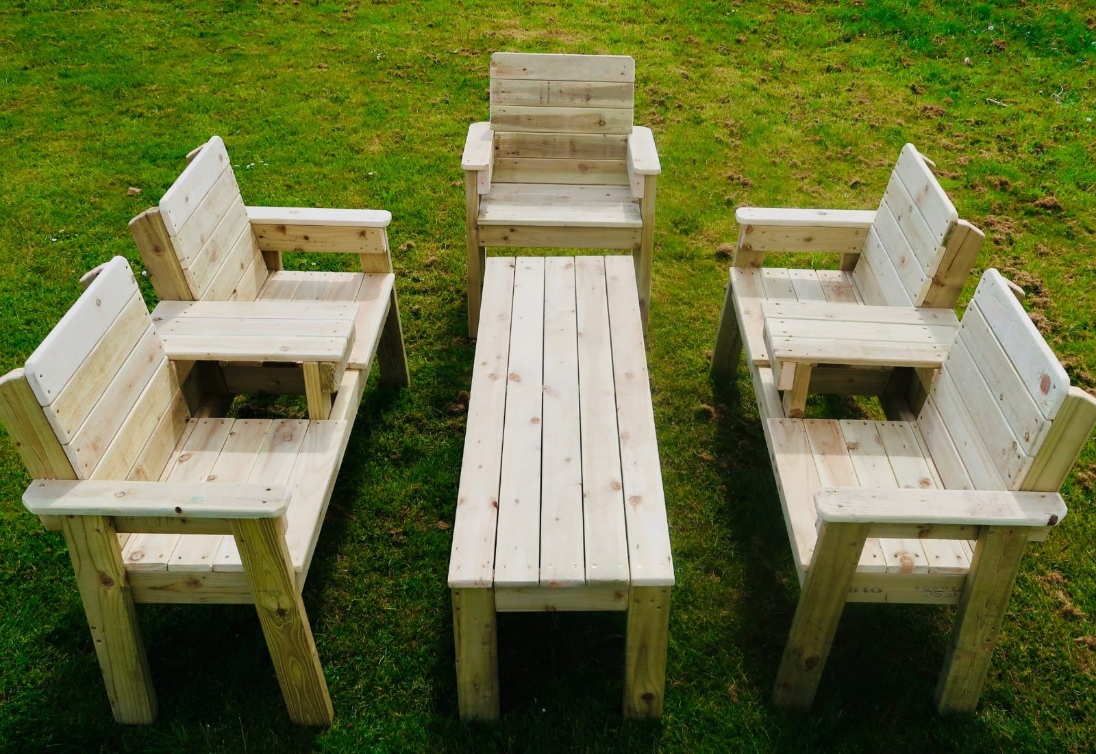 1no table: (L)163cm x (D)50cm x (H)50cm 1no single chair: (D)56cm x (W)72cm x (H) 96cm 2no Love seat: (D)56cm x (W)161cm x (H) 96cm