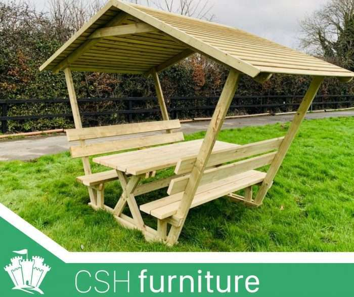 Covered Picnic Bench