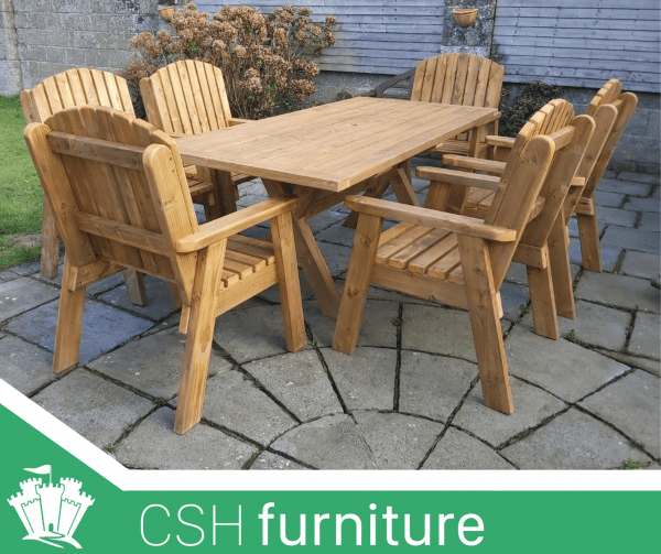 Outdoor Furniture Wooden Garden Table, Round Wooden Garden Table And Chairs Ireland